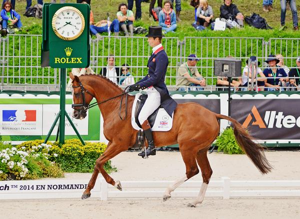 WEG - Chilli's dressage result
