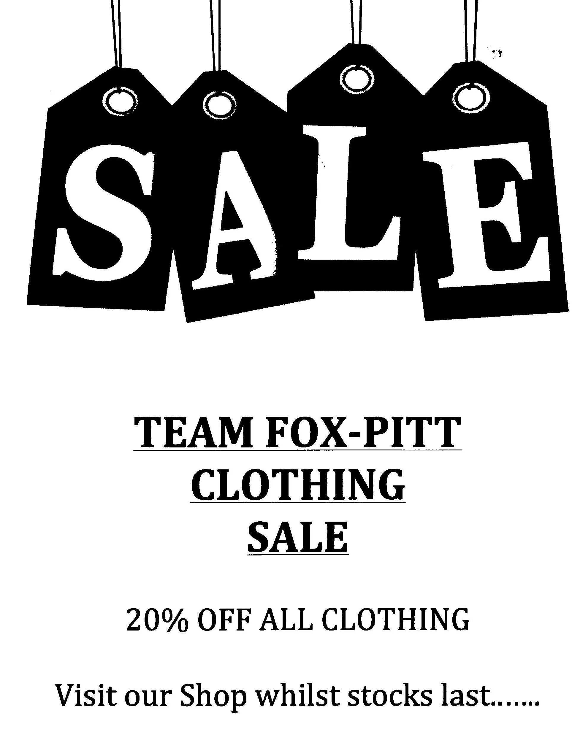 Team Fox-Pitt Clothing Sale